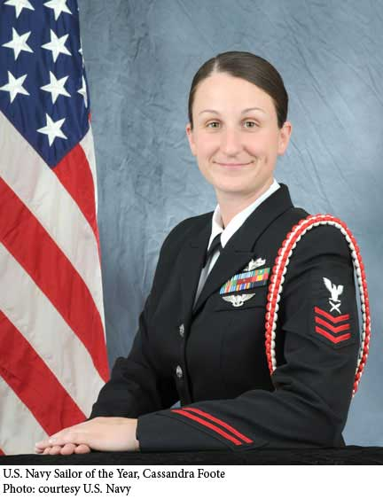 September 2010 | U.S. Navy Sailor of the Year Cassandra Foote ...